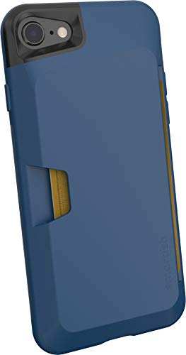 Smartish iPhone 7/8/SE (2020) Wallet Case - Wallet Slayer Vol. 1 [Slim + Protective + Grip] Credit Card Holder for Apple iPhone SE 2020 & iPhone 7/8 - [Silk] -Blues on The Green