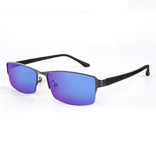 JJCFM Kleur Blinde Bril, Half Frame Kleur Blinde Correctieve Bril voor Rood-Groen Blindheid, Aanpassing Kleur Visie stoornis, voor Rijden, Tekenen, Spellen,B