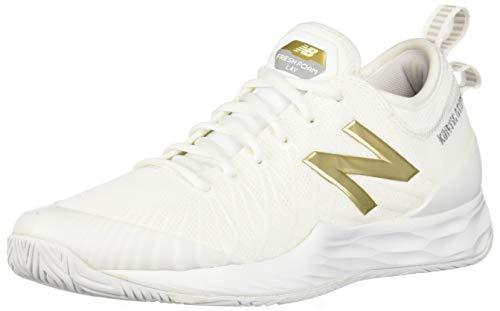 New Balance Lav V1 Hard Court, Scarpe da Tennis Uomo, Bianco E Oro, 46 EU