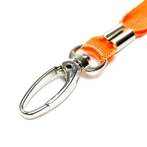 COSMOS ® 5 pcs Orange Clasp Neck Strap Band Lanyard For ID card, badge, Factory worker, Students, office worker, etc + Cosmos cable tie