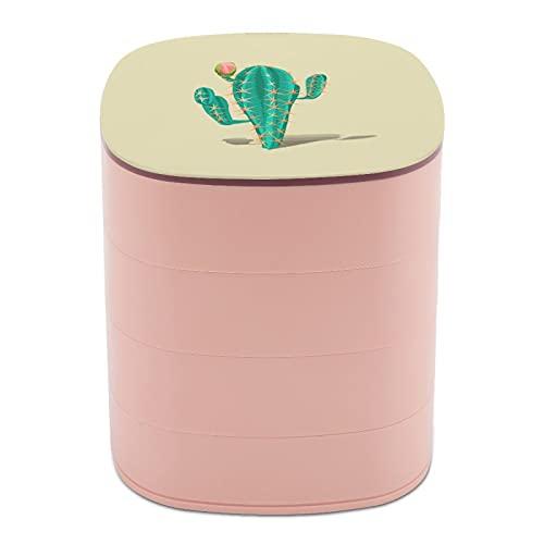 cajas de joyería para viajes Rotar la caja de joyería espectacular grande cactus plantas cajas de joyería para collares y collares, cajas de joyería para almacenamiento protección caso suave