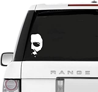 A&B Traders Car Decals Michael Myers Creepy Half Face 5.8