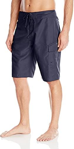 Quiksilver Men's Manic 22 Inch Length Cargo Pocket Boardshort Swim Trunk, Navy Blazer 2015, 34