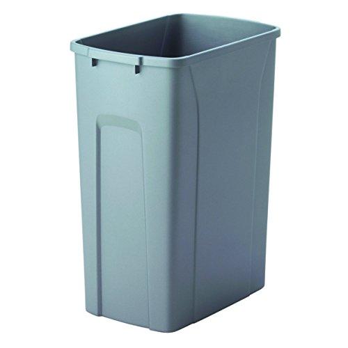 Knape & Vogt QT35PB-PT Replacement Trash Can, 17.5 by 14.25 by 9.32