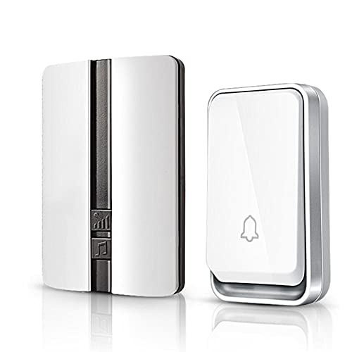 Sakilor Wireless Doorbell Impermeable Door Smart Puerta Bell Hogar Sin batería Requerida Anillo inalámbrico Dong Chime Timbre Llamar-blanco