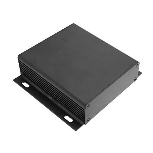 Weikeya Caja de aleación de aluminio, color negro arena, accesorios de proyecto, dibujo electrónico de alambre de aleación de aluminio para controlador GPS 28 x 104 x 95 m