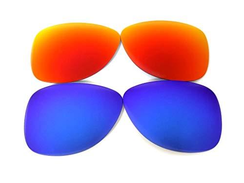 Lentes de repuesto para Oakley Crosshair 1.0 azul/rojo polarizados,