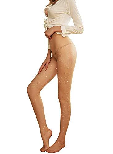 Frauen Netzstrumpfhosen Netzstrümpfe Sparkle Strass Mädchen Mode Strumpfhosen Strümpfe mit hoher Taille