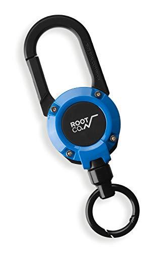 【ROOT CO.】マグネット内蔵カラビナリール GRAVITY MAG REEL 360 (ブルー/グロス)