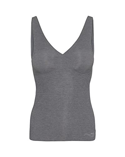 Sloggi Damen Zero Feel Natural Shirt 02 Unterhemd, Schwarz (Black Combination M014), 40 (Herstellergröße: M)
