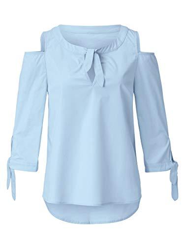 Sienna Damen Bluse Hellblau 36 Baumwolle