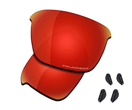 Saucer Lentes de repuesto premium para gafas Oakley Thinlink OO9316, (Alta Defensa - Polarizada rojo fuego), Talla única