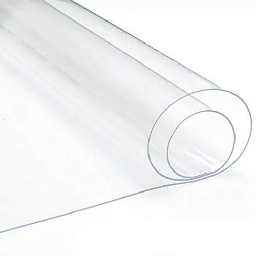 AMDHJ Alfombra para Silla de Oficina, Alfombrilla para Silla de Piso Duro de PVC de 1,5/2 mm de Espesor, Fuerte Resistencia al Impacto, Agarre Efectivo (Color : 1.5mm, Size : 85x135CM)