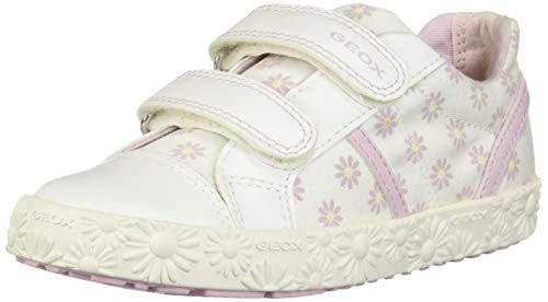 Geox Baby B Kilwi Girl E Low Top Sneakers, White (WhitePink C0406), 4.5 UK Child