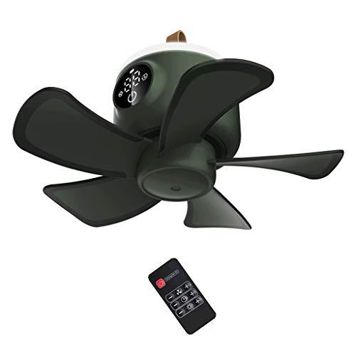 kdjsic 8000mAh USB Recargable Control Remoto Temporización Ventilador de Camping 4 Engranajes Ventilador de Techo para Tienda con lámpara LED para el hogar Cama al Aire Libre