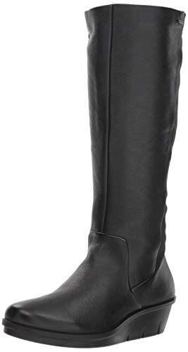 ECCO Women's Skyler Gore-TEX Tall Knee High Boot, Black/Black Stretch, 35 M EU (4-4.5 US)