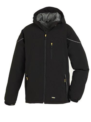 teXXor Winter-Softshelljacke Vail, gefütterte Arbeitsjacke mit Fleece, XL, schwarz, 4138