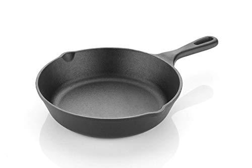 Highkind cast iron skillet frying pan 8/10.25 inch pre seasoned,...