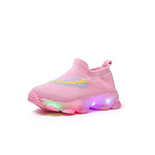 LED Design Bunte helle Schuhe Kinder Schuhe mit Licht Led Unisex Schuhe Leuchtschuhe für Jungen und Mädchen Leuchtende Blinkende Turnschuhe Wander Outdoor Sportschuhe Licht Turnschuhe Leuchtend