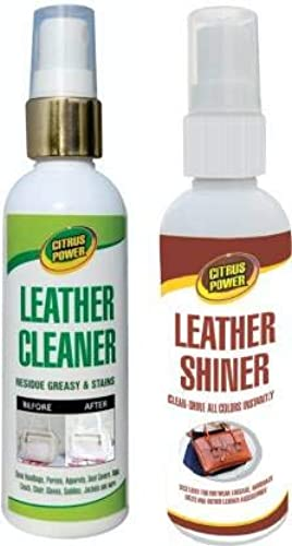 Leather Cleaner Shiner Bags Wallet Sofa Care Combo 200ml Pack of 2