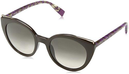 Furla Eyewear Mujer N/A Gafas de sol, Marrón (Dark Brown+Shiny Brown), 51