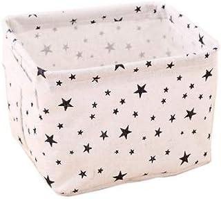 Boîte de Rangement Divers Coton Boîte de Rangement Motif géométrique Tissu de Bureau débris Collection Petit Panier (Color...