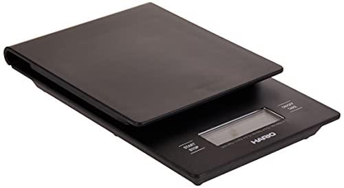 Hario V60 VST-2000B VST2000B-Balanza, Color Negro