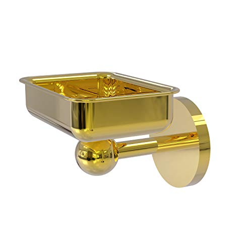 Allied Brass 1032 Skyline Collection Wall Mounted Soap Dish, Polished Brass