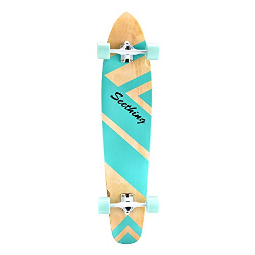 seething 42 Inch Longboard Skateboard Complete Cruiser,The Original Artisan Maple Skateboard Cruiser...