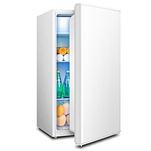 HDHUA Mini Nevera de una Puerta para el hogar, Ahorro de energía, Nevera y congelador, Calentador de Agua Mineral, Bebidas, café, Frutas y Verduras, congelador