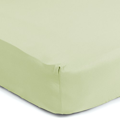 """Sealy Therma-Fresh Cooling Moisture Wicking Fitted Crib Sheet – Hypoallergenic & Temperature Responsive, 52"""" x 28"""", Sage Green"""