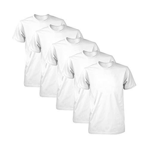 Kit com 5 Camisetas Masculina Dry Fit Part.B (Branco, G)