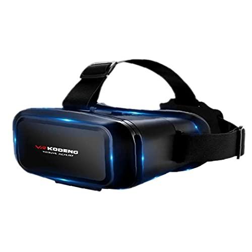 Naisedier VR 3D Gafas de Realidad Virtual Auricular Gafas de Apoyo 0-600 miopía de Juego de la película 4.7-6.1inch teléfonos Inteligentes único Visual Diseño Negro
