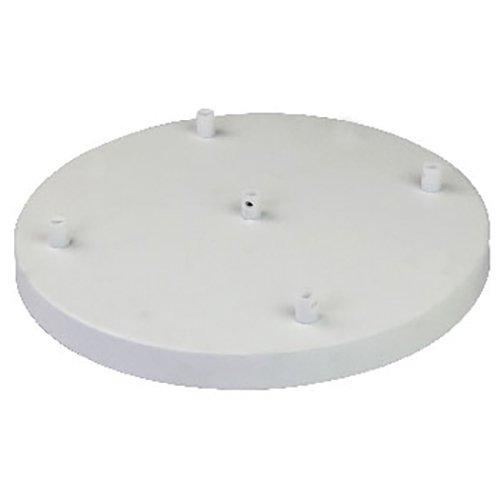 Girard Sudron Lampen Baldachin Metall 5-fach (5 Kabelauslässe) weiß Ø 300mm