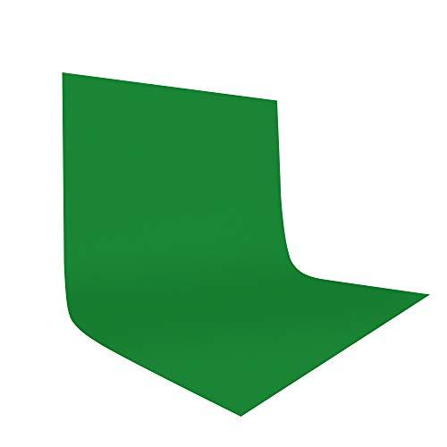 UTEBIT 10 x 12FT / 3 x 3.6 M Foto Studio 100% Reine Polyester Hintergrundstoff Faltbare Hintergrund Kulisse für Fotografie, Video und Fernsehen (Nur Hintergrund) - Grün