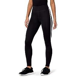 Amazon Brand – AURIQUE Women's Side Stripe 7/8 Sports Leggings