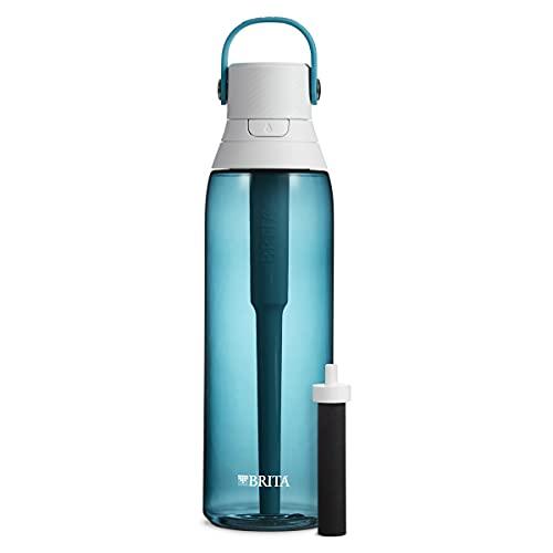 Brita Plastic Water Filter Bottle, 26 Ounce 1, Sea Glass
