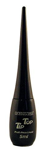 Eulenspiegel 671115 - Professional Liquid Aqua schmink tip top - fles met geïntegreerde kwast - 5 ml - zwart