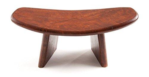 Banco de meditación, 40 x 18 cm, madera, color marrón, para meditación, de madera de mango, asiento para yoga, asiento ergonómico, regalo esotérico