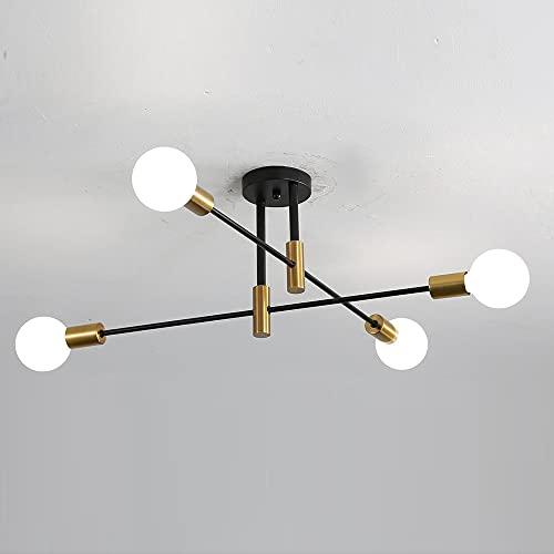 Osairous Lampade da Soffitto Sputnik, Plafoniere 4 Bracci Diametro 60cm, Lampadari Soffitto...