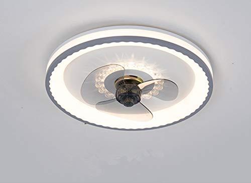 Luz del ventilador LED del techo 36W, la velocidad de la luz variable y el ajuste de tres velocidades de la velocidad del viento, la luz integrada del ventilador de techo para la sala de estar, el com