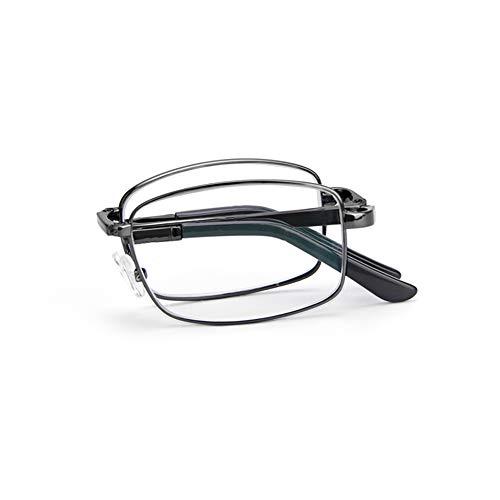 QXQX draagbare leesbril leesbril opvouwbaar voor unisex bescherming tegen blauw licht, vermoeidheidsverschijnselen +0,50,+1,50,+2,00,+2,50,+3,50