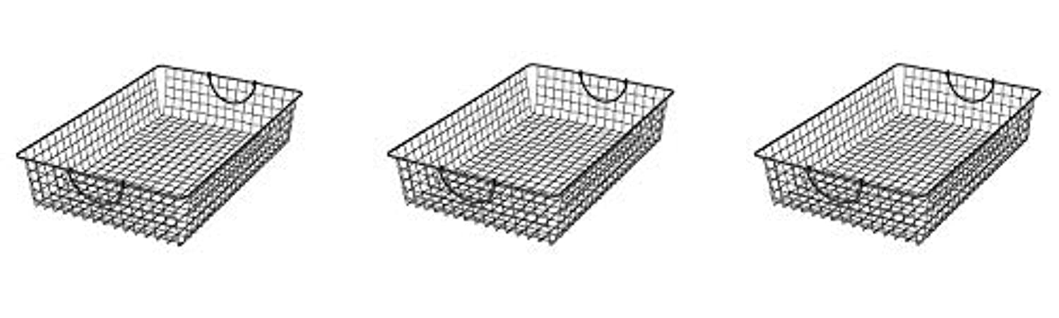 Spectrum Diversified Stowaway Basket, Under Bed Storage, Large, Industrial Gray (3-(Pack))