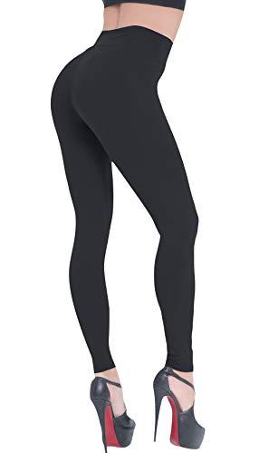 Beelu Damen Leggings Lange Hohe Taille Capri Leggins Frauen Weich Blickdicht Pants Kompressions Hosen