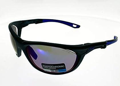 Julbo Race 2.0Nautic - Gafas de sol lente ahumada antiempañamiento, Hombre, Azul (Bleu Foncé/Bleu Clair/Bleu), Talla única