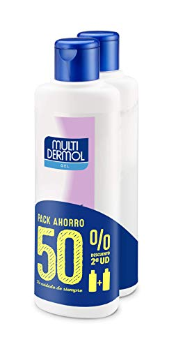 Multidermol Gel de Ducha - Paquete de 2 x 750 ml, Higiene Protectora y Aséptica de la Piel, Acción Desodorante Total: 1500 ml