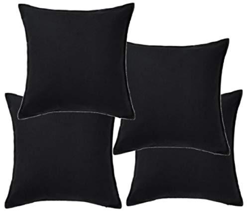 IKEA GURLI 802.811.38 - Juego de 4 fundas de cojín (50 x 50 cm), color negro