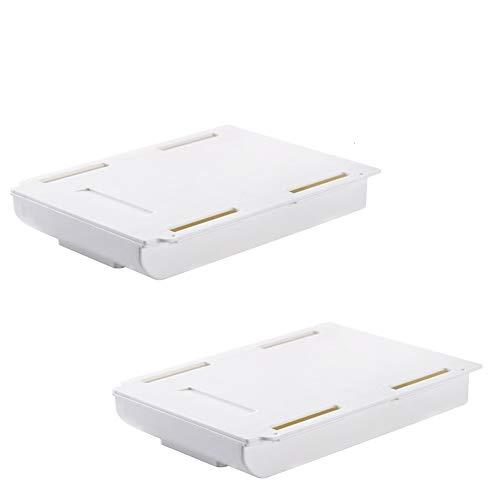Schubladen Organizer Schublade unter Schreibtisch, Selbstklebend Organizer Box zur Aufbewahrung klein Aufbewahrungsbox kleben versteckt unter Tisch Stiftebox Ablage für Büro Schule Stifte