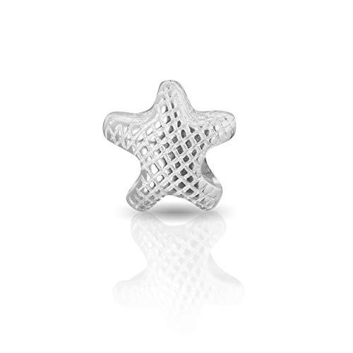 Andante-Stones - Original, Cuenta de Plata de Ley 925 sólida, Estrella del mar, diseño Vintage, Elemento Bola para Pulseras modulares European Beads + Saco de Organza