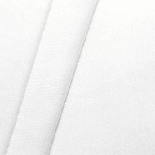 STOFFKONTOR 100{568d0bc8afc561244d5c184b0127a0e694c9a62f37066010432af11f7f7d0169} Baumwolle Molton universal Breite 150 cm Stoff Meterware Weiss